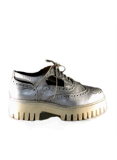 Alberto Guardiani Alberto Guardani Renk Klasik Oxford Ayakkabı Gümüş